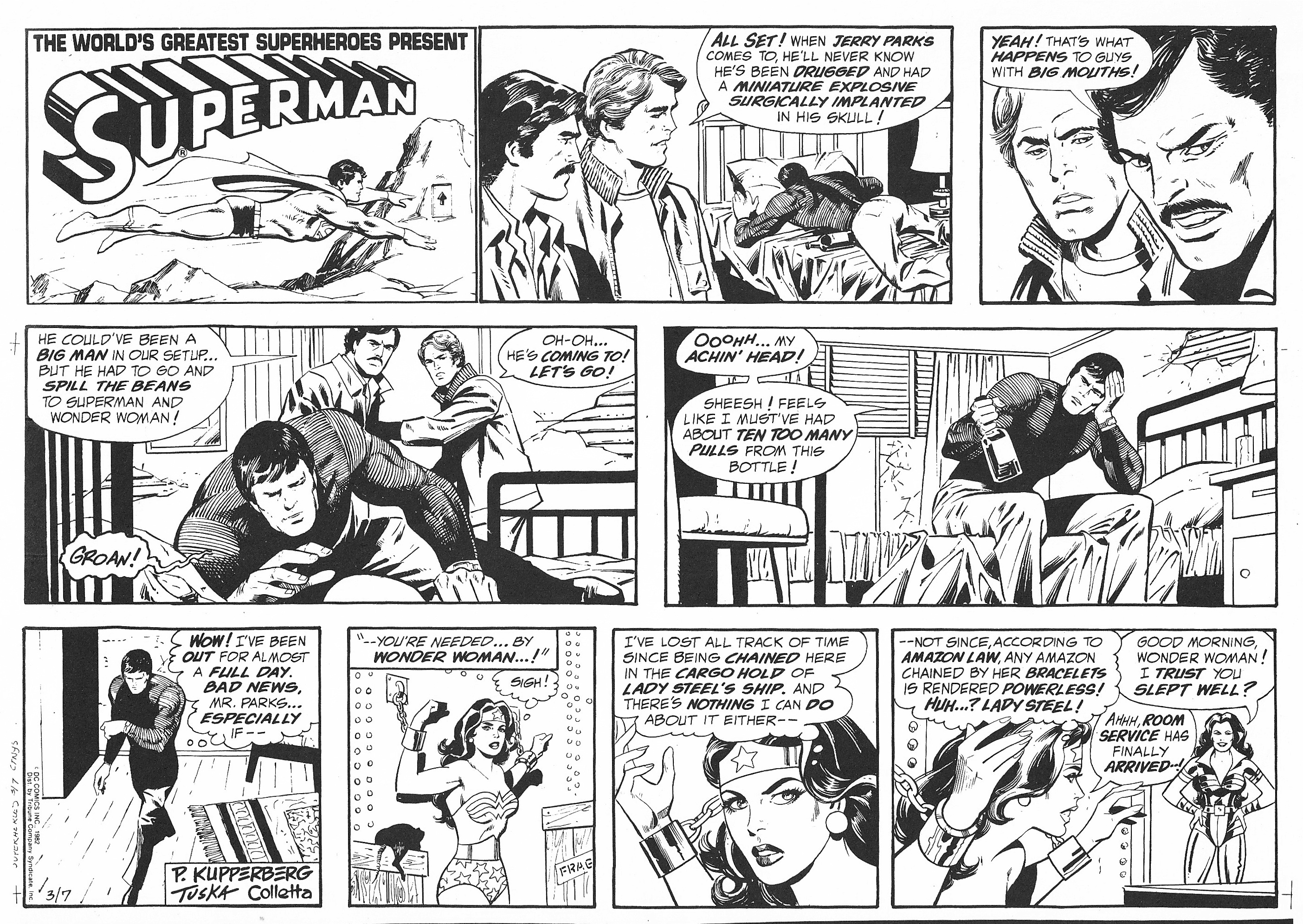 black and white comic strip